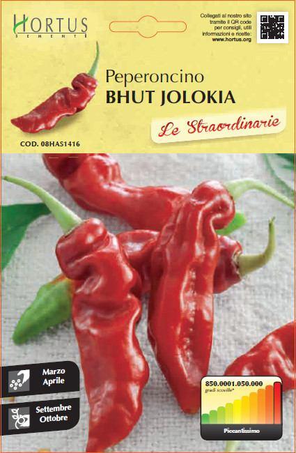 Papričica Bhut Jolokia